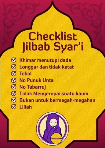 Checklist jilbab syar'i